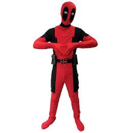 Wholesale Zentai Children - Marvel Children Deadpool Costume Zentai Spandex Superhero Fullbody Halloween Cosplay Kids Halloween Costumes