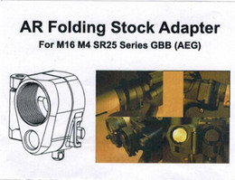 Wholesale M4 Sales - Hot Sale AR Folding Stock Adapter For M16 M4 SR25 Series GBB(AEG) airsoft