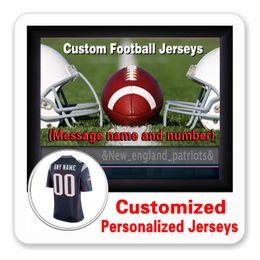 Wholesale England Patriots - Custom Personalized Jerseys Mens Womens Youth 12 Tom Brady New England 87 Rob Gronkowski Game Elite Cheap Patriot Jersey 4XL 5XL