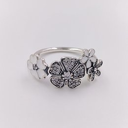 Wholesale China Bouquet - Authentic 925 Sterling Silver Rings Shimmering Bouquet Ring Fits European Pandora Style Jewelry 190984CZ