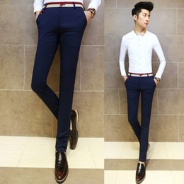 Wholesale Slimming Bomb - Wholesale-original design 2015 new men's casual pants Korean fashion personality decorative tight pants feet Male Slim trousers micro-bomb