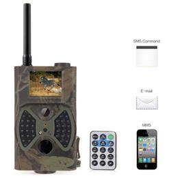 Juego de trail mms online-HC-300M cámara de caza del rastro Photo Trap MMS SMS GSM GPRS 12MP HD cámara de video del camuflaje salvaje Vedio con 36 piezas IR LED