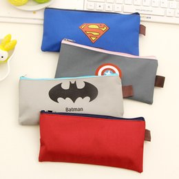 Wholesale Novelty Material - Wholesale-Hot Sales Cute Kawaii Cartoon Fabric Zipper Pencil Case For Kids Student Novelty Item School Material Free Shipping 0803