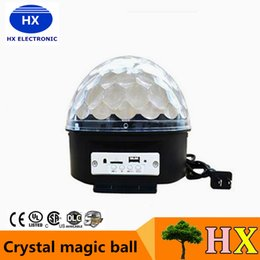 Wholesale Magic Jumping Light Ball - 2016 LED dmx laser light Crystal magic ball stage lighting 6 colors 5 modes USB MP3 disco light 18x15cm 110-240V + remote controller 10pcs+