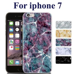 Wholesale 5s Inch - High Quality TPU Marble Skin Back For iphone 7 Cover Case Protector Mobile Phone Shell For iphone 5S 6 4.7 Plus 5.5 inch SCA212