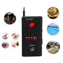 Wholesale Detector Bugs - Free DHL CC308 CC308+ Hidden Spy Camera Signal RF Detector Device Full-range all-round Wireless GPS CCTV Signal IP Lens GSM Laser