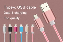 Wholesale Data Sync Cable Long Iphone - 1.5M Long Strong Braided Micro USB Type C (USB-C) Sync Data Charging Cable For Mobile Phones Samsung iPhone With Metal Head Plug