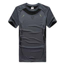 Wholesale Coolmax Shirt - Wholesale-HOT New Outdoor Sports Quick-Drying Short-Sleeve Round Neck T-Shirt Breathable Lightweight COOLMAX Elastic Quick-Drying Fabric 9