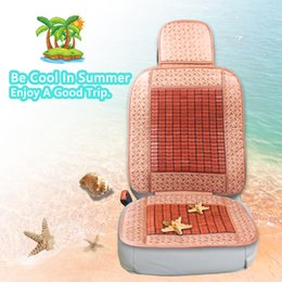 Wholesale Cooling Seat Pads - Natural Bamboo Cool Car Seat Cushion Cover Pad Mat Upgrade Design Summer Cooling Seat Cusion