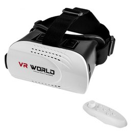 Wholesale New Generation Android - New 3rd generation VR WORLD 3D Virtual Reality Glasses Movies Game Glasses For 3.5-6 Inch phone +Bluetooth Controller