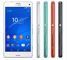"Teléfono sony xperia z3 compacto online-Teléfono celular original Sony Xperia Z3 Compact Quad core 4.6 ""16GB ROM 20.7MP D5803 Z3 mini restaurado"