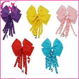 Wholesale Korker Ribbons Wholesale - Korker Hair Bow Solid Ribbon Stacked Headwear with Alligator Clip Baby Girls Hair Accessories