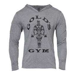 Wholesale Mens Gym Tops - Mens Gym Hoodie Long Sleeve Bodybuilding Hoody Men Sports Suits Tank Top Muscle Shirts Cotton Assassins Creed Gold Gym