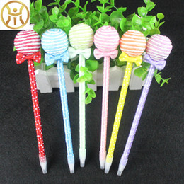 Mädchen stift niedlich online-Nette Lollipops Kugelschreiber Schulbedarf für Kinder Kugelschreiber Studenten Korea Schreibwaren kawaii Stifte für Mädchen Geschenke