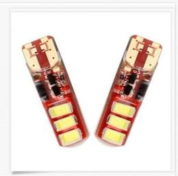 Wholesale Reading Flash Light - 50PCS T10 W5W 5730 6 SMD LED Flash Strobe Silica Gel Wedge Side Light Reading Bulb
