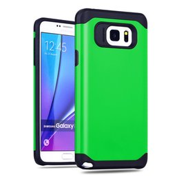 Wholesale Slim Armor Retail Package - Factory Price Hybrid Shock Absorption Slim Armor Tough Armor Case without retail package universal case For Samsung Galaxy note 5 DHL Free