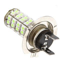 Wholesale H7 68 Smd Led - 2Pcs H7 68 SMD 3528 1210 LED White Xenon Car Auto Headlight Bulb Fog Lights Lamp For DC 12V Wholesale Free Shipping Car DIY order<$18no trac