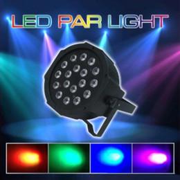 Wholesale Led Lights Dh - 18*3W Wonderful Par LED RGB Magic Effect light DMX512 Disco DJ Stage Lighting Party Light AC110V-240V 6 Channels Led Stage Par Light DH;