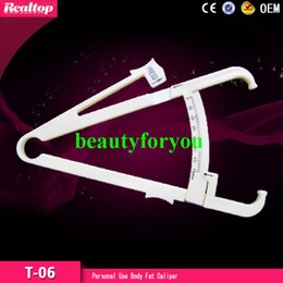 Wholesale personal fitness - Personal Body Fat Tester Body Loss Fat Caliper Tester Accurate Calipers Measure Keep Slim Healthy Fitness Body Fat Monitor