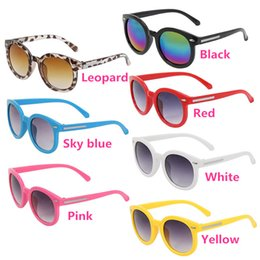 Wholesale Kids Beach Sunglasses - Top Seller Kids Children's Round Frame Sun Glasses Sunglasses PC Lenses Candy Color Fashion Without Retail Packages GX50 Free Shipping
