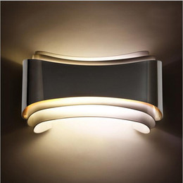 Wholesale Wall Mount Bedside Lamp - modern 5w led wall lights foyer bed dining living room lamp led bathroom lights bedside light indoor wall mounted lamps