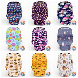 Wholesale Nurse Cases - Baby Stroller Cover Car Seat Canopy Shopping Cart Cover Sleep Pushchair Case Travel Bag By Cover Breastfeed Nursing Covers 60pcs OOA2519