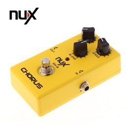 2019 boîtier en aluminium bricolage Produit d'origine NUX CH-3 Guitare électrique Pédale d'effet Chorus à faible bruit BBD True Bypass Guitarra Pédale d'effet accessoires de pièces de guitare