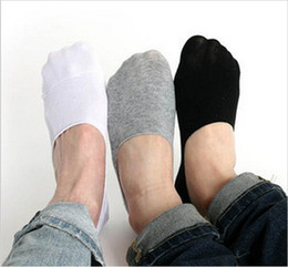 Wholesale Men Purple Formal - Wholesale-Men's Loafer Socks 10Pairs Fashion Casual Cotton Socks Classic Male Brief Invisible Slippers Shallow Mouth No Show Sock w017