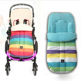 Wholesale Bag For Cart - Wholesale- Warm Baby Stroller Sleeping Bag Rainbow Kids Pram Sleepsacks Top Quality Baby Cart Set Footmuff Winter Envelope For Pram XV2