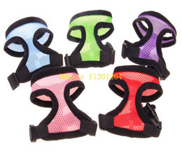 Wholesale Wholesale Mesh Jackets - 500pcs lot Fashion Pet Harness Nylon Mesh Pet Harness Dog Vest Harness Dog Apparel S M L XL Size