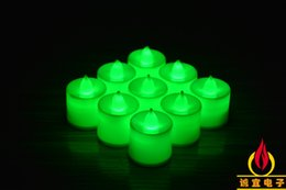 Wholesale Colored Led Tealight Candles - 3.5*4.5cm Battery operated Flicker Flameless LED Tealight Tea Candles Light Wedding Birthday Party Christmas Decoration ZD068C