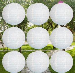 Wholesale Chinese Paper Lanterns Free Shipping - Wholesale-(40pcs lot) 4''(10cm)Free shipping white color Chinese paper lantern festival&wedding decoration(only paper lantern )