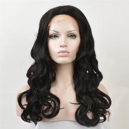 grandes perucas brancas Desconto Moda afro-americana perucas perucas dianteira do laço preto cachos de cabelo longo peruca dianteira do laço perucas mulheres brancas big wave penteado