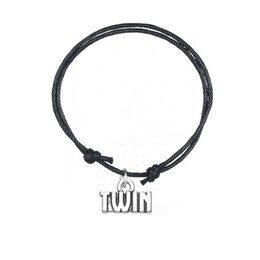 Wholesale Twin Charms For Bracelets - Fashion Accessories Charm Bracelet Joint Antique Silver Plated Twin Charm Wristband Bracelet For Personalized Jewelry