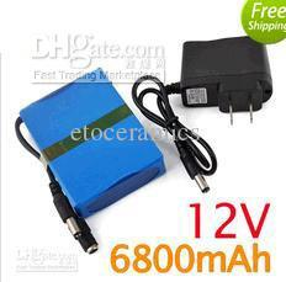 Wholesale 12v Cam - 12V Rechargeable Li-lion Battery for CCTV Cam 6800mAh US   EU   UK Plug Available
