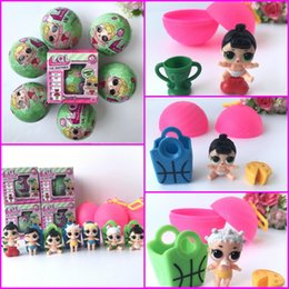 Wholesale Model Figures Cartoon - Girls Dolls LOL Surprise Lil Sisters Series 2 Lets be Friends Action Figures Toys Baby Doll with retail box Kids Gifts