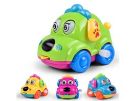 Wholesale Plastic Wind Up Toy Car - Best Gift For Baby Random Color Cute Cartoon Running Car Wind Up Toy Clockwork Classic Baby Toddler Kids Toy (Size: One Size)