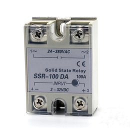 Wholesale Ac Voltage Control - SSR-100A Single phase AC solid state relay solid state voltage regulator DC control AC Zero voltage turn-on