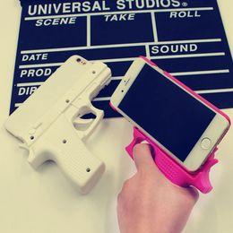 "Wholesale wholesale gun cases - 3D Gun Shape Cell Phone Case Hard phone Case Cover For iPhone 6 plus 4.7"" 5.5"" Cool 3D Gun Cell Phone Capas Para For iphone 6S 6Plus"