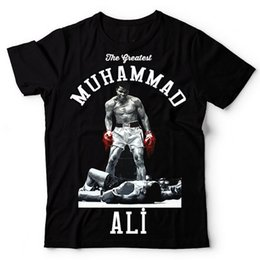Wholesale Great White Short - Wholesale-MUHAMMAD ALI T shirt men The Greatest Fitness short sleeve printed top cotton tee shirt US plus size S-3XL