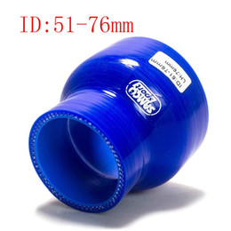 """Wholesale Silicone 76mm - Samco 2"""" To 3"""" ID:51mm OD:76mm 0° 3-Ply Reducer Silicone Intercooler Turbo Air Intake Pipe Coupler Hose blue Intercooler silicone pipe"""