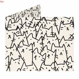 Wholesale Waterproof Paper Holder - Wholesale- DuPont Tyvek Paper Wallets Women Geometric Pattern Wallet Vintage Waterproof Purse Foldable Money Holder Bifold Wallet YSN000126