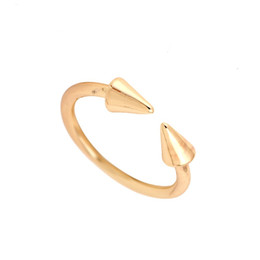 Wholesale Brass Jewerly - fashion Jewerly Rings Open Double Arrow Shape Rings Female Finger Ring NY-004