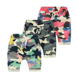 Wholesale Wholesale Clothing Cargos - New Kids Shorts Clothing Baby's Cotton Summer Shorts Camouflage Cute Cargo Shorts oy Camouflage Army Harem Shorts Pants