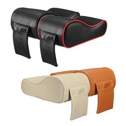 Wholesale mat memory - Luxury PU Leather Car SUV Center Box Armrest Cushion Console Soft Pad Cushion Cover Mat Memory Foam Rest Pillow Armrest Supports