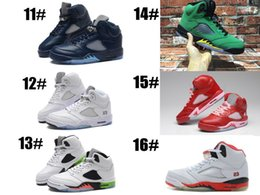 Wholesale Red Man Sign - Good Discount Genuine Retro + V 5s Basketball Shoes 5's Athletics Sneakers Retro Men Casual Trainers online Outlet store with jumpman Sign