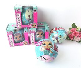 Wholesale Wholesale Mini Baby Dolls - 2017 Newest Hotsale LOL SURPRISE DOLL Unpacking Dolls Dress Up Toys baby Tear open change egg dolls can spray toys