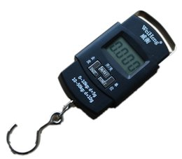Wholesale Digital Lcd Handheld Scale - 50kg 10g Digital Hanging Scale WH-A08L Portable Mini Handheld Lage Scales With LCD Backlight And Hook Stock Offer Traveling Tools