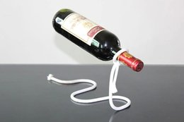 Wholesale Ornaments For Bottle - Red Wine Bottle Holder Wine Rack Creative Suspension Rope Chain Support Frame For Red Wine Bottle 3cm Home Furnishing ornaments Free Ship