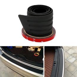 Wholesale Rear Bumper Plate - Car Bumper Protector Rear Trunk Sill Plate Guard Anti-collision Auto Rubber Mouldings SUV Trim Cover Decoration Car-styling